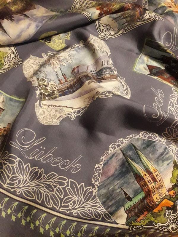 Платок с видами Любека